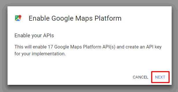 Google api enable services