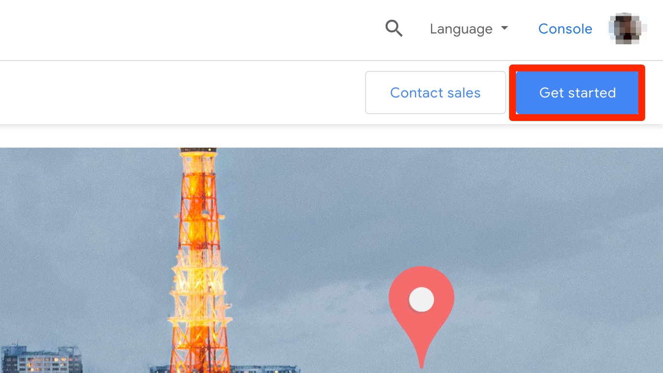 Google maps api key - get started